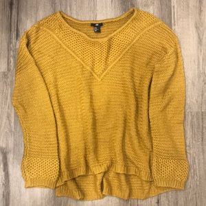 H&M Deep Golden Mustard Sweater